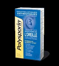 boîte de gouttes otiques polysporin + analgésique