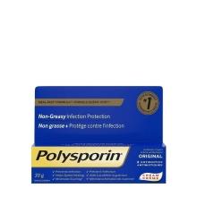 Crème antibiotique POLYSPORIN® Original, avec formule Guérit-vite, non grasse, protège contre l'infection, 2 antibiotiques