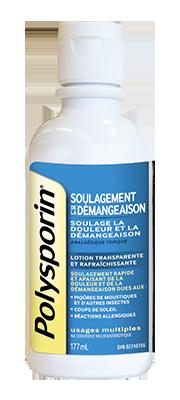 flacon de lotion polysporin soulagement de la démangeaison