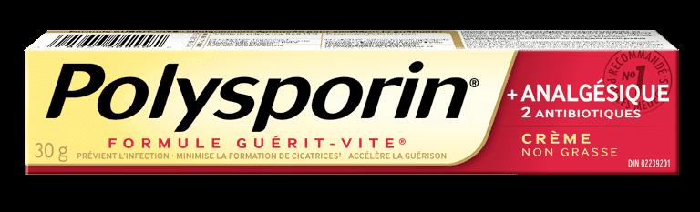 boîte de crème polysporin + analgésique