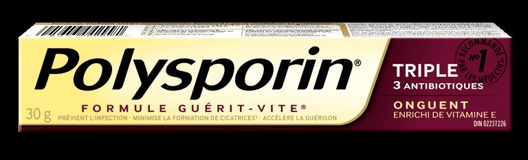 boîte d'onguent antibiotique polysporin triple